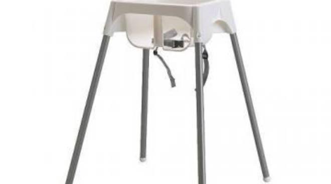 Ikea: seggiolone Antilop difettoso, richiamati 80 mila in Italia