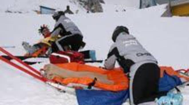 Campo Felice, snowboard: slavina da fuoripista, travolto ma è salvo