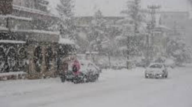 Neve record, Floris: chiesto lo stato di calamità naturale