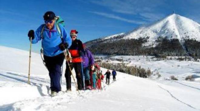 Roccaraso, ciaspolata e fuochi pirotecnici sulle piste da sci