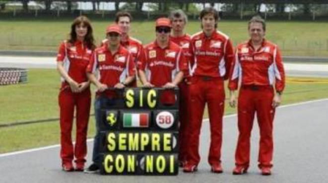 Simoncelli: a Sepang il ricordo della Ferrari