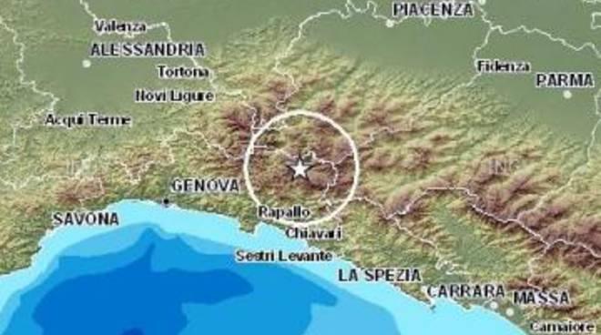 Terremoto: scossa di magnitudo 4.1 in Liguria