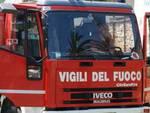 L'Aquila: palazzo in fiamme