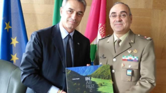 Consiglio Abruzzo: visita istituzionale del generale De Vito