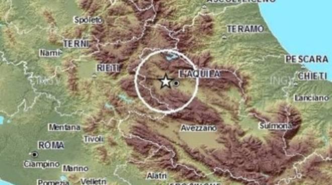 Terremoto, scossa 2.1 a Coppito
