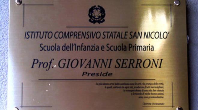 San Nicolò, omaggio al primo preside
