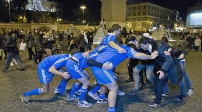 Sei Nazioni, 'rugbymob' a piazza del Popolo