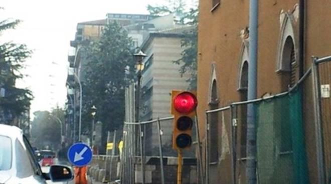 Viabilità, semaforo in via XX Settembre