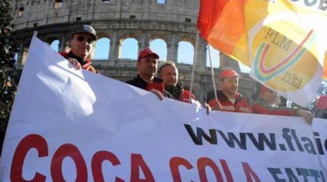 Coca Cola, sit in al Colosseo