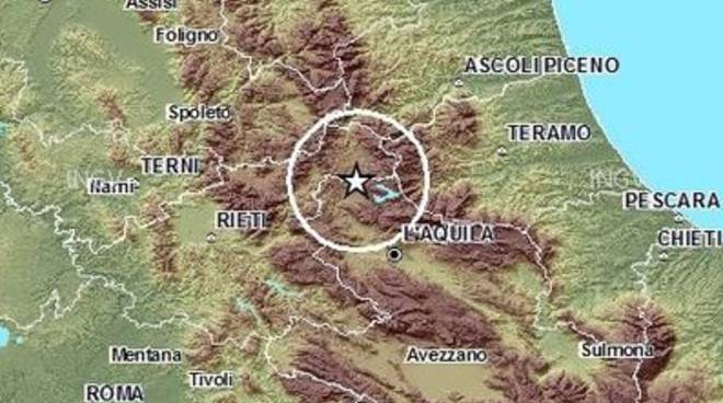 Terremoto, scosse a Campotosto
