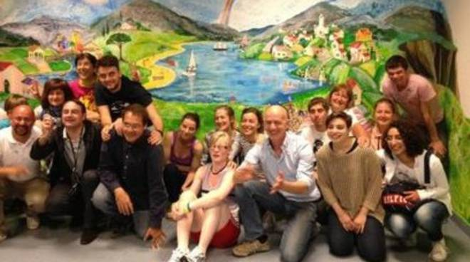 I ragazzi russi di Maria's Children affrescano il PalaAngeli