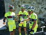 Capistrello, la prima tappa dei quattro ciclisti