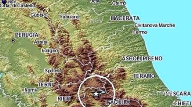 Terremoto, scossa a Campotosto