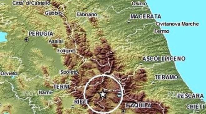 Terremoti, scossa a Montereale
