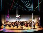 Laser acrobatic show a L'Aquila