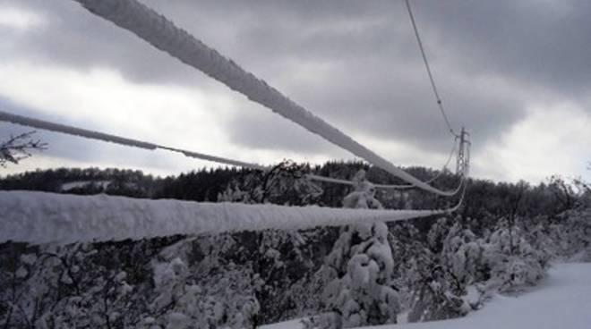 Neve, in migliaia senza corrente