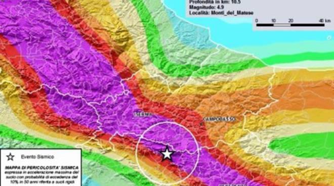 Scosse Campania, «Area con valori alti di pericolosità»