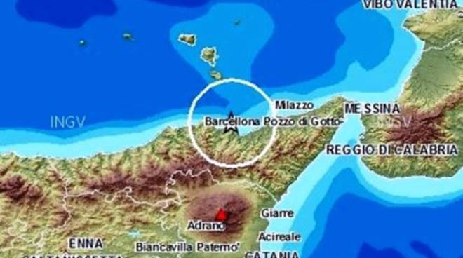 Scossa di terremoto in Sicilia