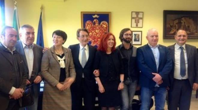 Delegazione polacca a L'Aquila