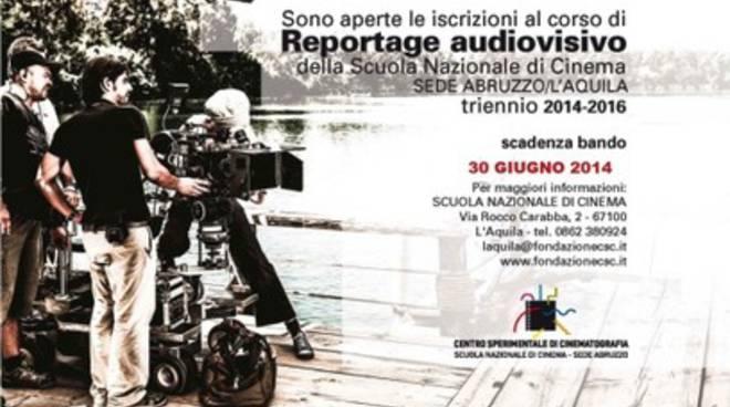 Corso in Reportage Audiovisivo, si cercano talenti aquilani