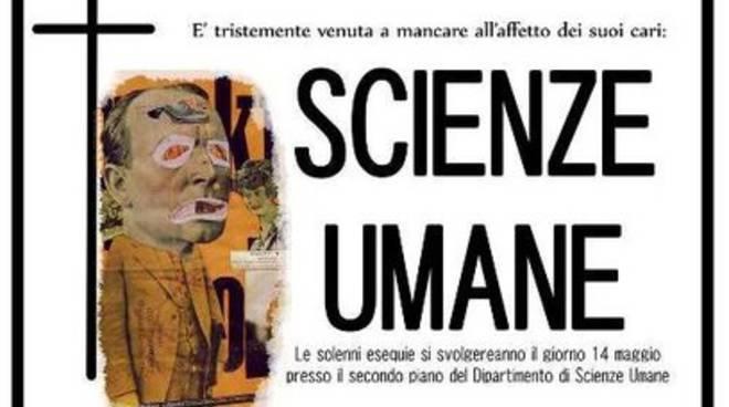 In scena il 'Funerale' di Scienze Umane