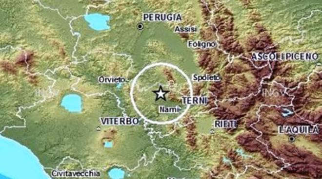 Terremoto, nuova scossa in Umbria