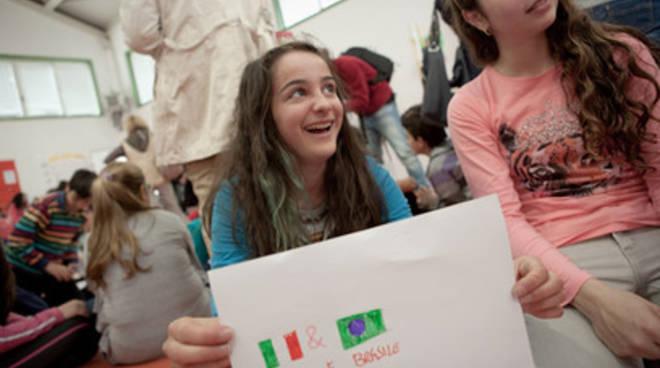 I bambini del Rodari dell'Aquila, in Brasile con ActionAid