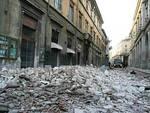Ricostruzione infangata, Schiavella a L'Aquila