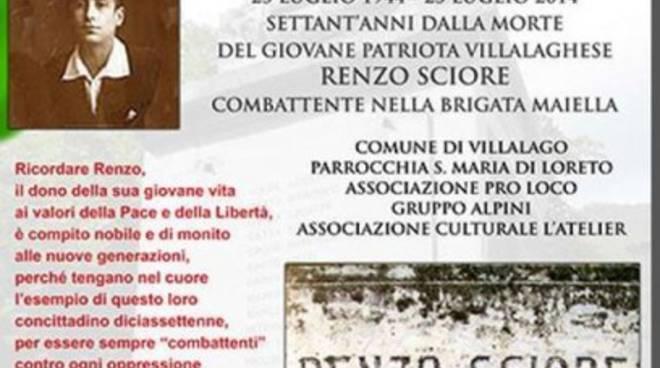 Villalago ricorda Renzo Sciore