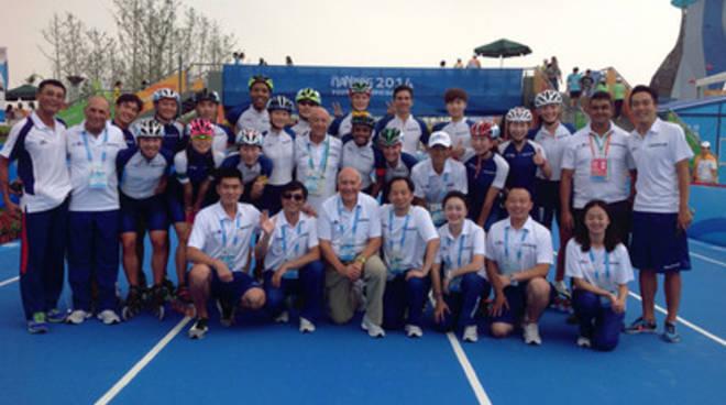 Sport olimpici, abruzzesi in Cina per promuovere il pattinaggio