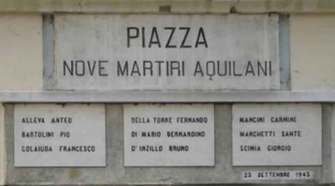 Il ricordo dei IX martiri aquilani