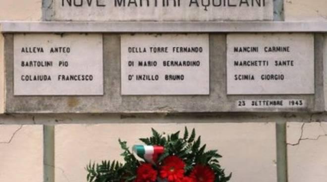 IX martiri nel cuore storico aquilano