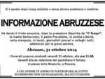 Chiude 'Il Tempo' Abruzzo, 'funerale' a Pescara