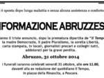 Chiude Il Tempo Abruzzo, 'funerali' in piazza