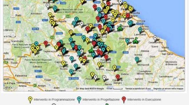 Scuole in sicurezza, la mappa interattiva per l'Abruzzo