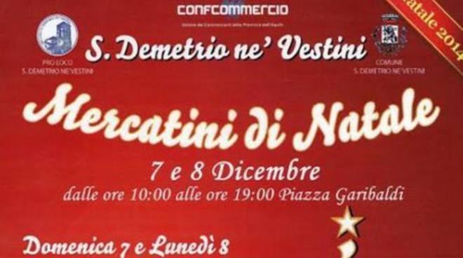 San Demetrio, la magia dei mercatini di Natale