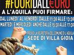 #Fuoridalleuro, firme a Villa Gioia