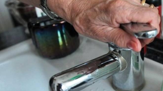 Interruzione dell'erogazione idrica nell'Aquilano