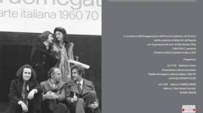 Belle Arti L'Aquila, Oliva 'battezza' l'anno accademico