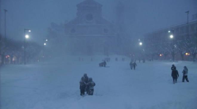 Allerta neve, scuole chiuse ad Avezzano