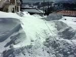 Campotosto, montagne di neve di oltre 2 metri