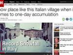 Neve record: Pescocostanzo finisce sulla Cnn