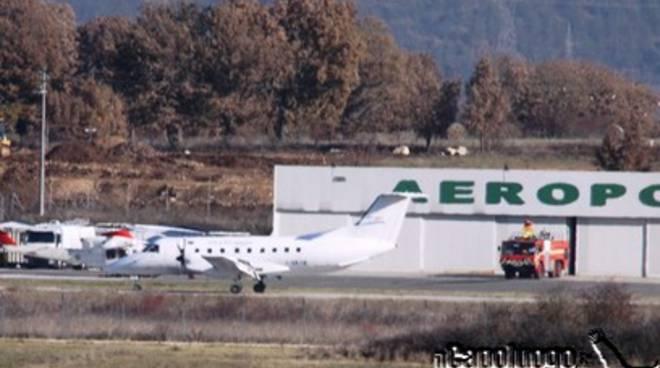 Aeroporto L'Aquila, stop al traffico commerciale