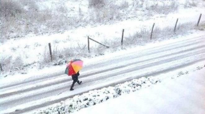 In Abruzzo Pasquetta con la neve