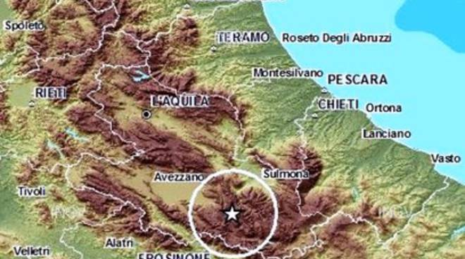 Terremoti, scossa 3.1 nella Marsica