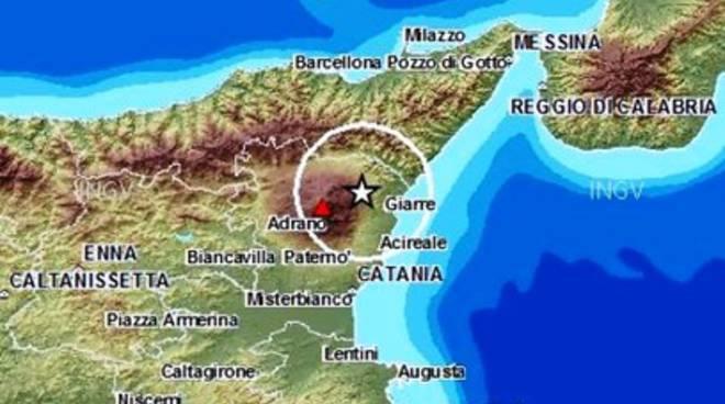Terremoti, scossa ai piedi dell'Etna
