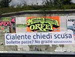 Bollette C.a.s.e. e Map, proteste sui muri