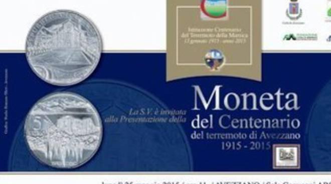 Sisma Marsica, ecco la moneta del Centenario