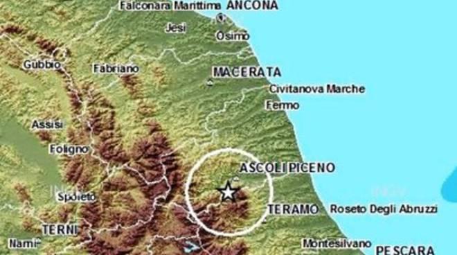 Terremoti, scossa 3.0 tra Abruzzo e Marche