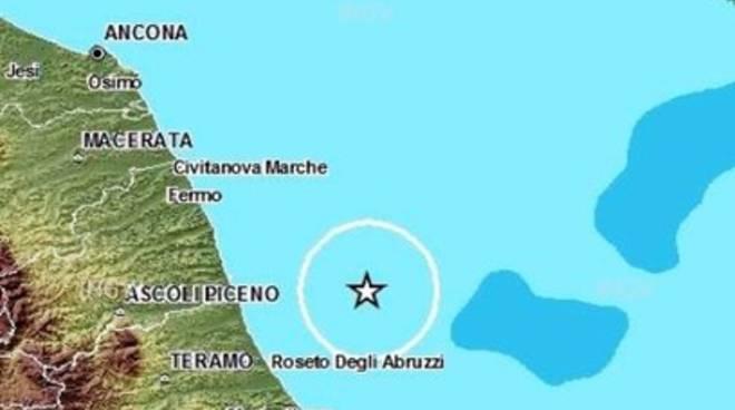 Terremoti, scossa 4.2 nel mare abruzzese